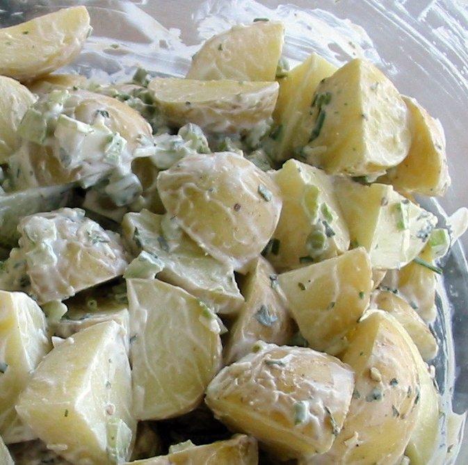 Smashed Baby Potato Salad